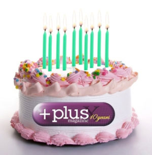 <i>Plus</i> birthday cake