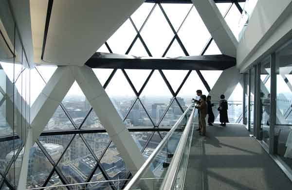 Interior view of the Gherkin.
