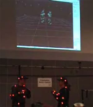 Motion capture used to capture movements of real people