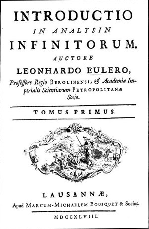 Cover page of <i>Introductio in Analysin Infinitorum</i>