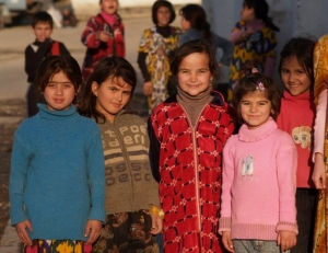 Children in Tajikistan.