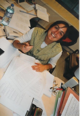 Claudia Centazzo at her desk
