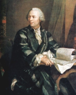 Leonhard Euler, 1707-1783. Portrait by Johann Georg Brucker.