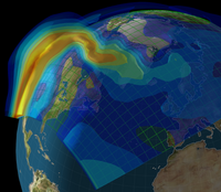 Image showing an ionospheric storm.