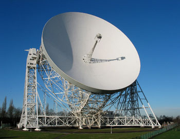 The Lovell telescope at Jodrell Bank.