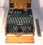 Figure 2a: The Enigma machine.