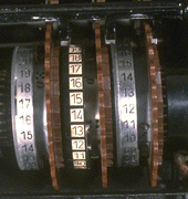 Figure 2b: Close-up of the coding rotors.
