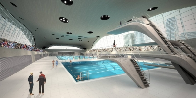 Computer model of the London 2012 swimming venue