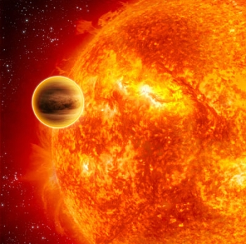 An image of a transiting exoplanet