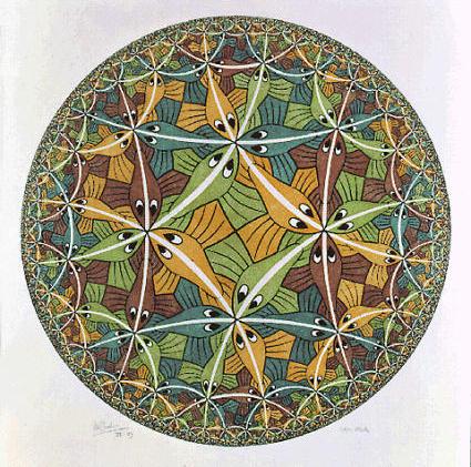 Circle limit III woodcut
