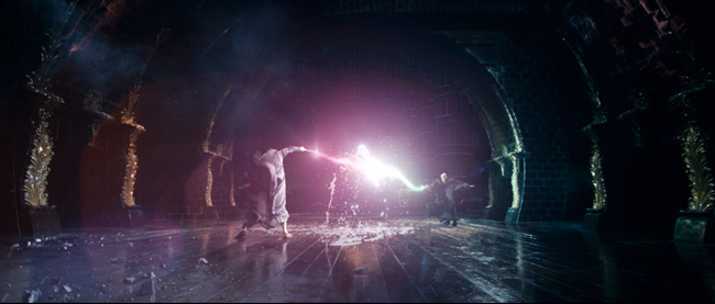 A scene from <i>Harry Potter</i>. Click on the image to play a movie of Alexis' work in another window. Warning: it's a 18MB file.