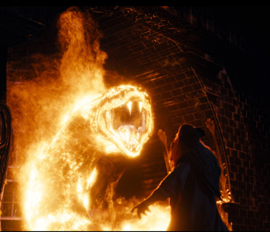 The fire serpent from <i>Harry Potter and the Order of Phoenix</i>.