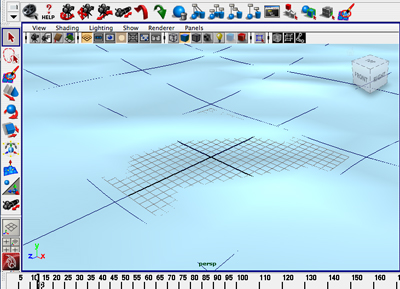 A view of this scene in the Maya interface.