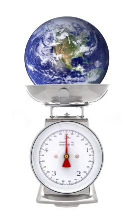 The Earth being weighed