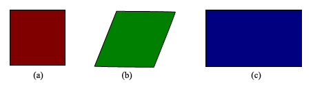 Figure 1: Regular and non-regular polygons
