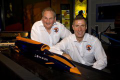 Noble and Green with model of Bloodhound SSC