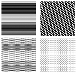 Stripy, hexagonal and square patterns of neural activity in V1 generated by a mathematical model
