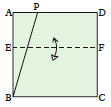 <div style='width: 121px;'>Make a horizontal fold anywhere across the square, defining a line EF.</div>