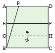 <div style='width: 121px;'>Fold line BC up to line EF and unfold, creating line GH.</div>