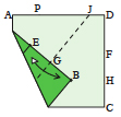 <div style='width: 121px;'>With the corner still up, fold both layers to continue the crease that ends at point G<br> all the way to J, then unfold.</div>