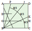 <div style='width: 121px;'>The two creases BJ and BK divide the original angle <br>PBC into three equal parts.</div>