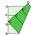 <div style='width: 121px;'>Point C divides edge AB into segments. Work out the ratio AC/CB and multiply this by the side length s<sub>1</sub> of the initial cube: the result is the side length s<sub>2</sub> you are looking for.</div>