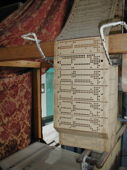 Punch cards used by a Jacquard loom