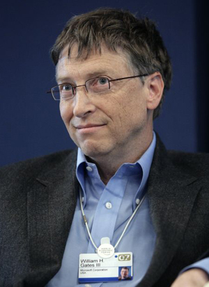 Bill Gates, an unlikely pancake flipper. Image: <a href=
