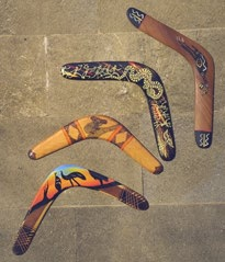 Figure 1: Traditional boomerangs from Australia.
