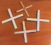 Figure 3: Home-made balsa wood boomerangs, suitable for indoor use.
