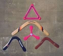 Figure 2: Some modern sports boomerangs.