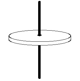 Figure 3: Basic gyroscope - spinning disc on a stick.