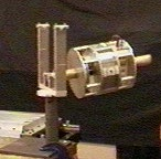Figure 4: A motorised gyroscope, clamped in gimbals.