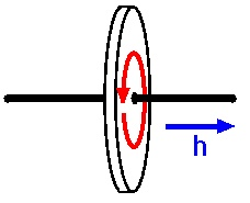 Figure 5: Angular momentum of a spinning disc.