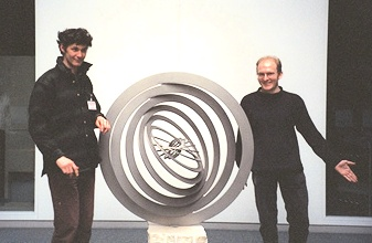 Figure 2: Simon Thomas (left) and Andy Burbanks, Mathematics and Art Project.