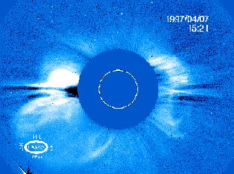 Figure 6: Image from SOHO's LASCO coronagraph.