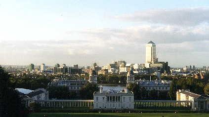 Today's view from Greenwich Old Royal Observatory.Image copyright Smithsonian Institute 1993.