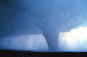 Mature tornado, Seymour, Texas, 10 April 1979.