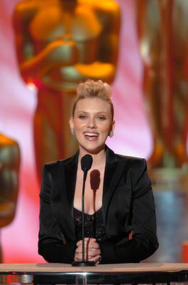 Actress Scarlett Johansson hosted the February 12 Science and Technology award ceremony. (Image copyright AMPAS)