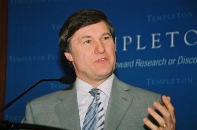 John D Barrow at the Templeton Prize news conference