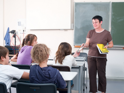 Students and teachers in classroom