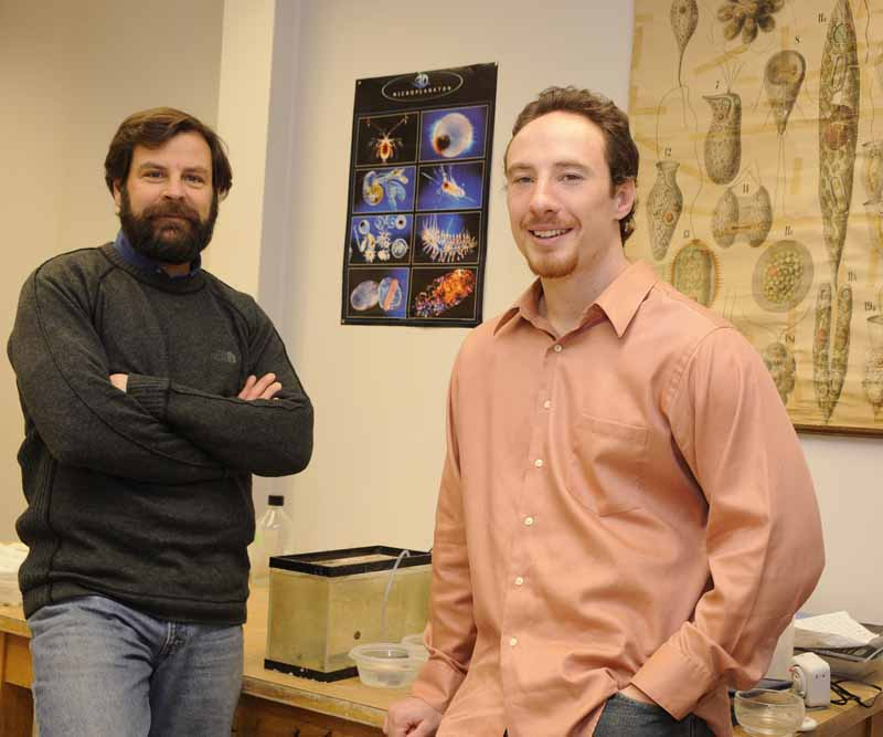 Associate Professor Tom Waite and doctoral candidate Anthony D'Orazio. Photo courtesy of Ohio State University. Photographer Jo McCulty.