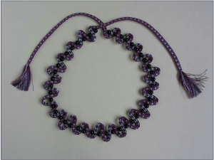 A braid necklace created by Jacqui Carey.