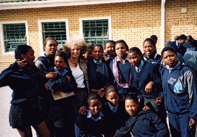 Helen Mason with SA students