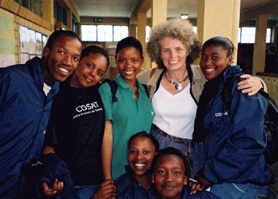 Helen Mason and students from AIMSSEC