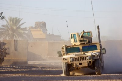 Armoured vehicle in Iraq