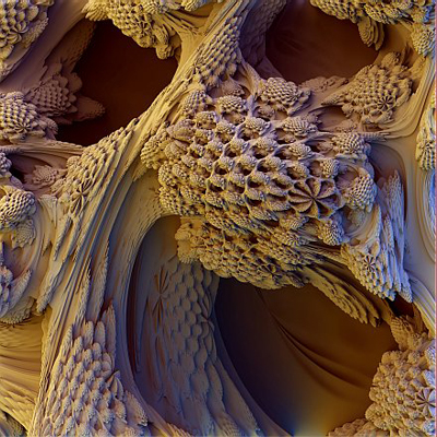 A detail of the 3D Mandelbrot set