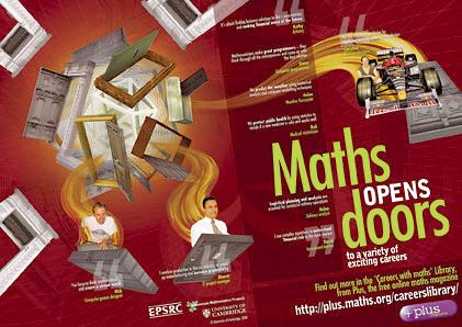 Maths opens doors - the poster